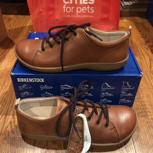 Birkenstock Islay nut leather sz 10 medium new